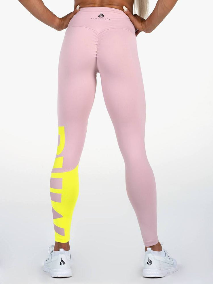 Ryderwear Neonude Scrunch Bum Leggings - Nude Pink