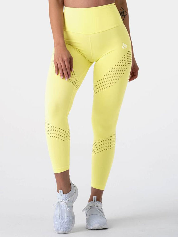 Ryderwear Pastels High Waisted Leggings - Lemon