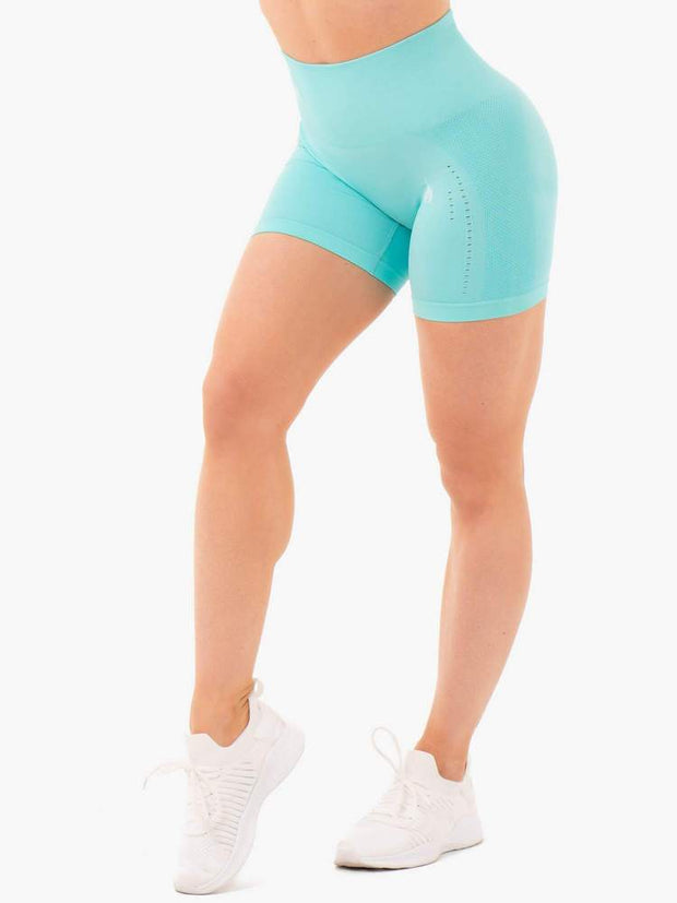 Ryderwear Seamless Staples Shorts - Aqua Marl