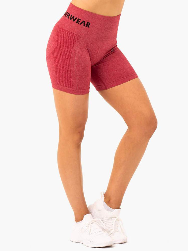 Ryderwear Seamless Staples Shorts - Cherry Red Marl