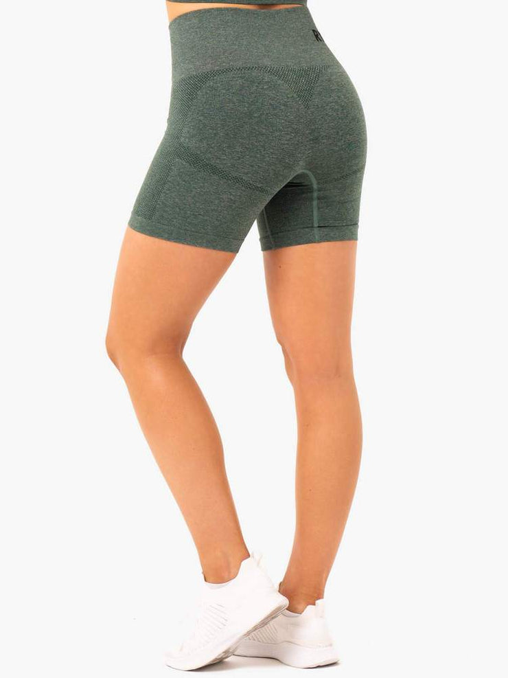 Ryderwear Seamless Staples Shorts - Forest Green Marl