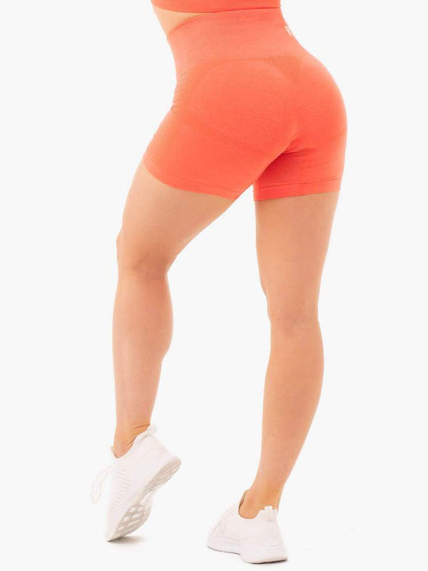 Ryderwear Seamless Staples Shorts - Orange Marl