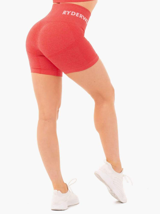 Ryderwear Seamless Staples Shorts - Red Marl