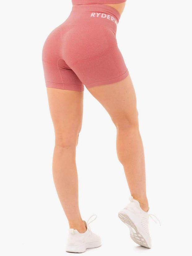 Ryderwear Seamless Staples Shorts - Rose Pink Marl