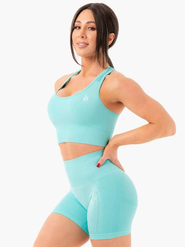 Ryderwear Seamless Staples Sports Bra - Aqua Marl