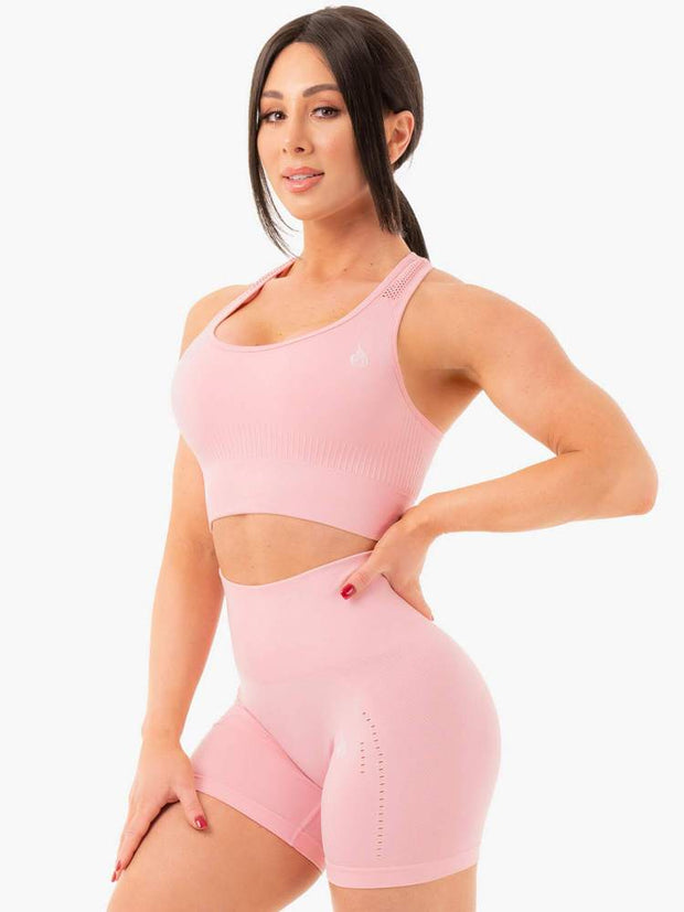 Ryderwear Seamless Staples Sports Bra - Baby Pink Marl