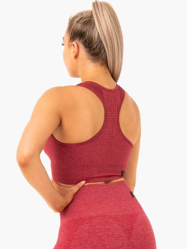 Ryderwear Seamless Staples Sports Bra - Cherry Red Marl