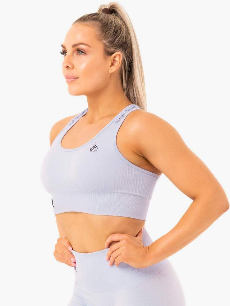 Ryderwear Seamless Staples Sports Bra - Lilac Marl