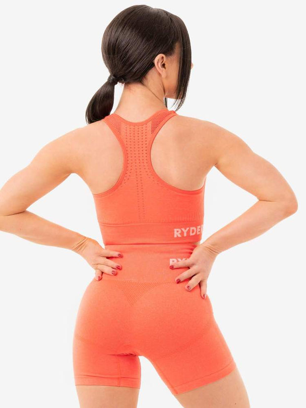 Ryderwear Seamless Staples Sports Bra - Orange Marl
