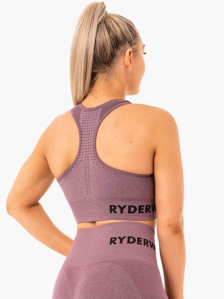 Ryderwear Seamless Staples Sports Bra - Purple Marl