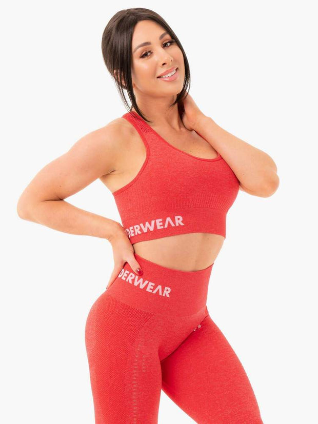 Ryderwear Seamless Staples Sports Bra - Red Marl