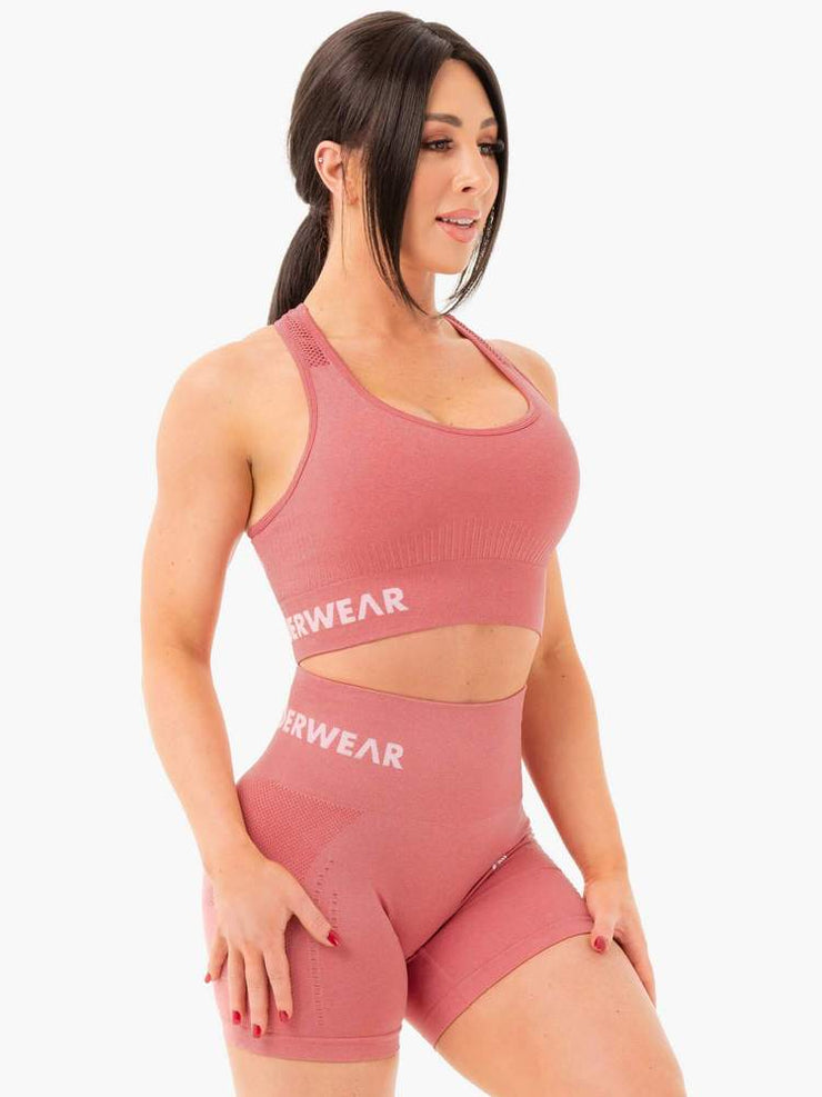 Ryderwear Seamless Staples Sports Bra - Rose Pink Marl