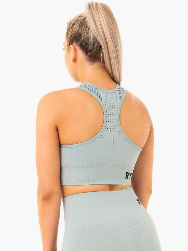 Ryderwear Seamless Staples Sports Bra - Seafoam Marl