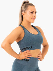 Ryderwear Seamless Staples Sports Bra - Teal Marl