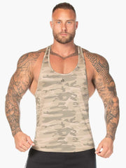 Ryderwear Camo Stringer T-Back - Tan Camo