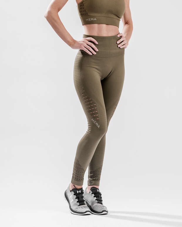 HERA x HERO XO Seamless Leggings - Olive