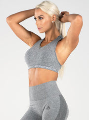 Ryderwear Seamless Sports Bra - Light Grey Marle