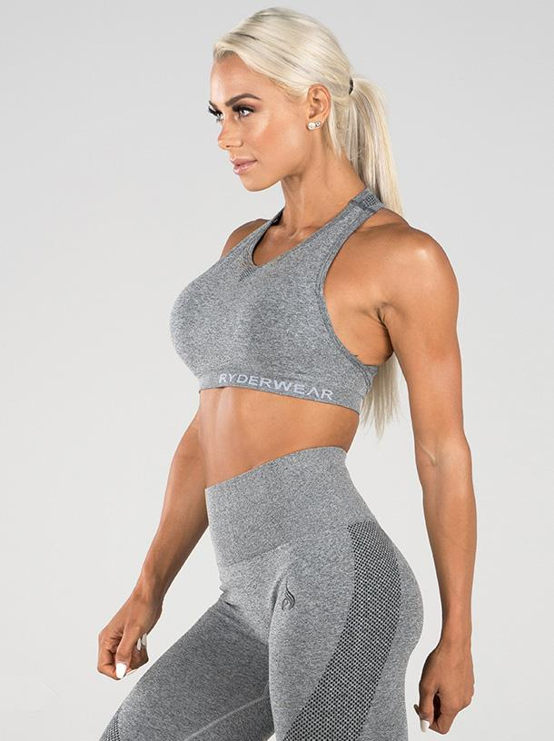 10% OFF Ryderwear Seamless Sports Bra - Light Grey Marle