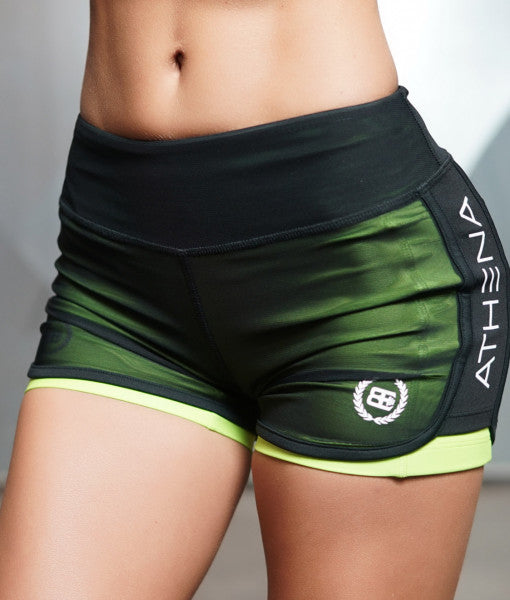 Body Engineers LOTUS Leto 2 in 1 Shorts Green