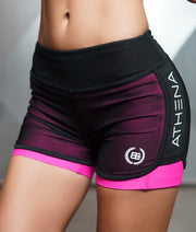 Body Engineers LOTUS Leto 2 in 1 Shorts Pink
