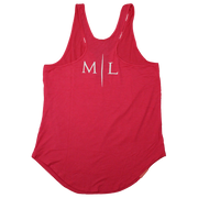 Muscle League Womens Style Tank - Pink/White