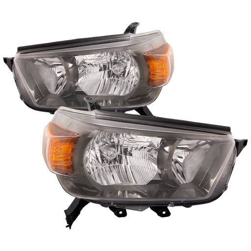 Headlights Pair Right Passenger Driver Left Set NSF Type Assembly Fits 2010-2013 Toyota 4Runner Trail Model