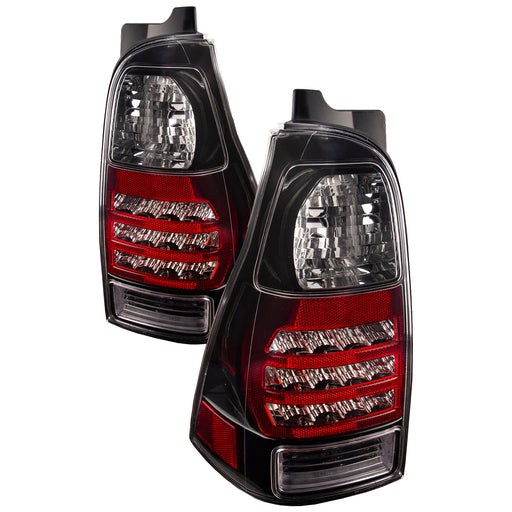 Tail Lights Pair Clear Lens Black Left Driver Right Passenger Set Fits 2006-2009 Toyota 4Runner