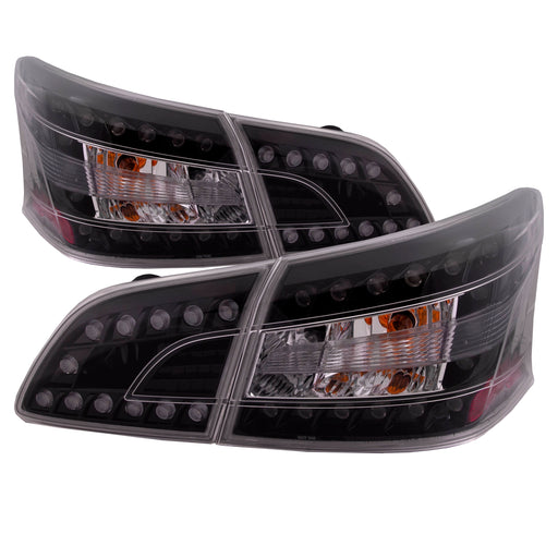 Tail Light LED Left Driver Right Passenger Inner/Outer w/Clear Lens Black Bezel Set Fits 2013-2016 Nissan Sentra