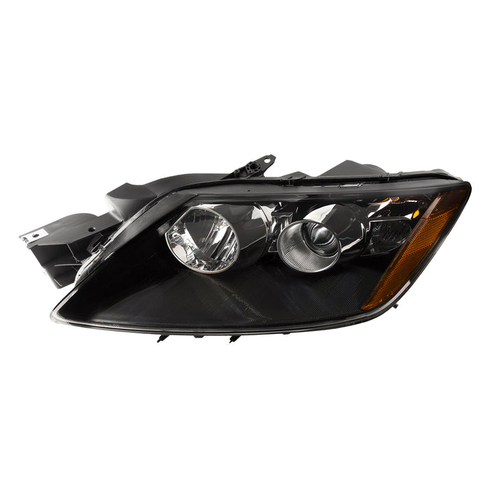 Headlight Halogen Style Left Driver side (Will Not Work Factory HID Option) Fits 2007-2008 Mazda Cx-7