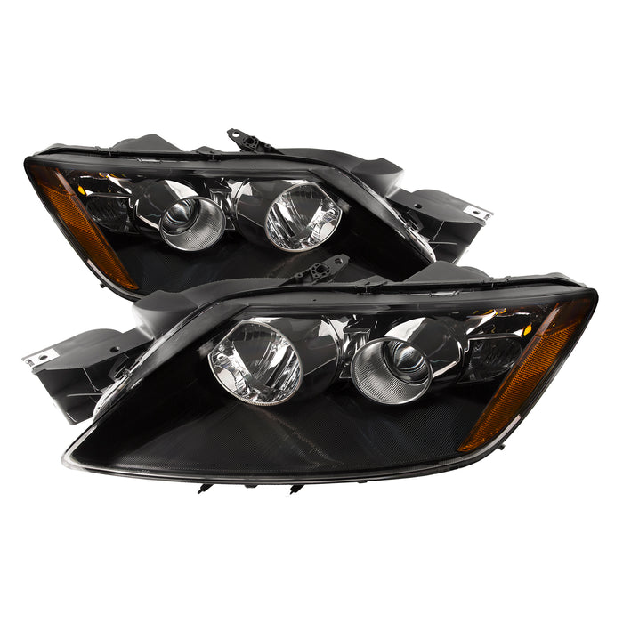 Headlight Pair Halogen Right Passenger Left Driver Fits 2007-2008 Mazda CX-7 (Will Not Work With Factory HID Option)