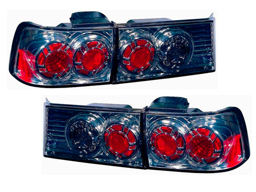 1990-1991 Honda Accord New Gun Metal 4-Piece Tail Lights Set