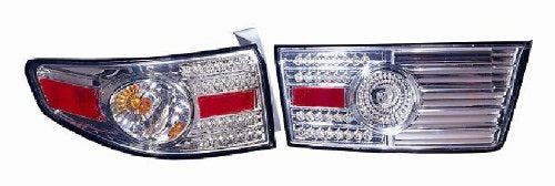 2003-2005 Honda Accord 4-Piece LED Tail Light Set Chrome