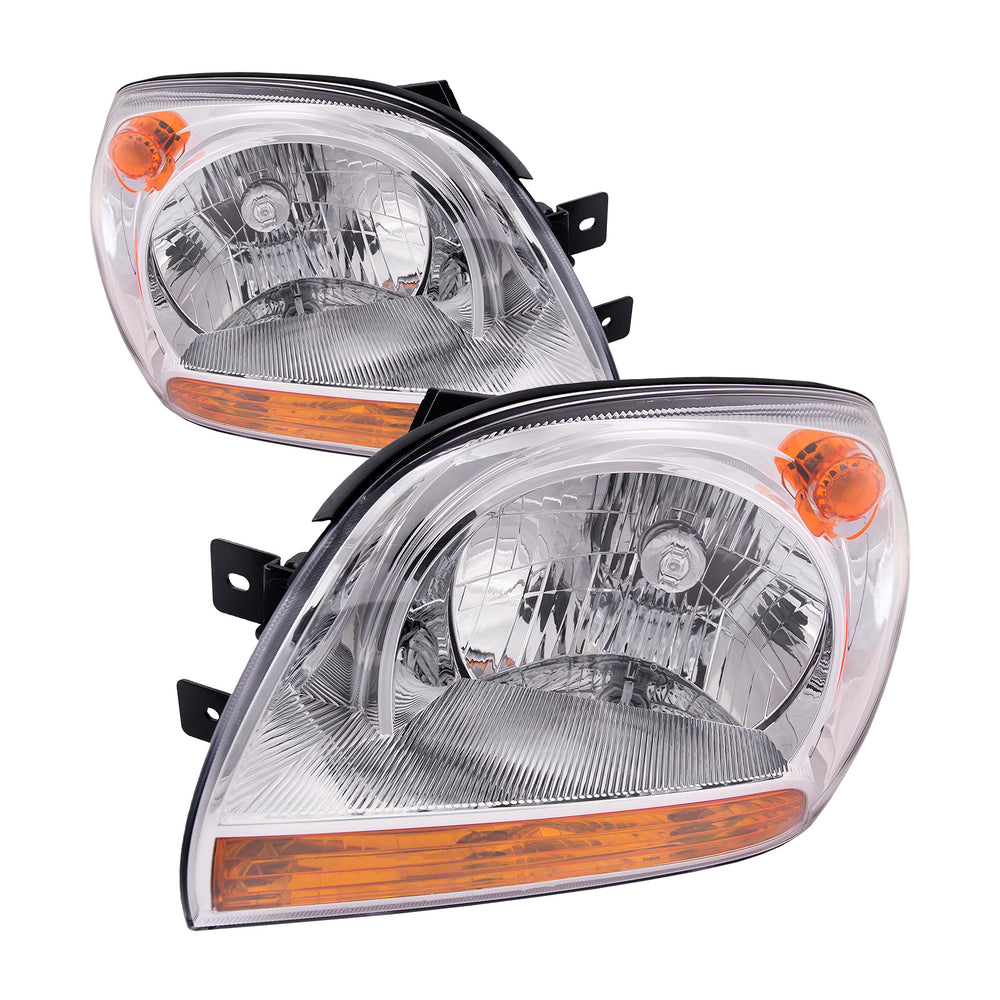 Headlight Pair Left Driver Right Passenger Set Performance Fits 2005-2008 Fits Kia Sportage