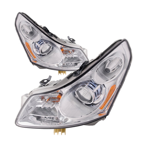 Headlights (w/o Tech Pkg) Set Right Passenger Left Driver Pair Assembly Fits 2007-2008 Infinity G-35 Sedan