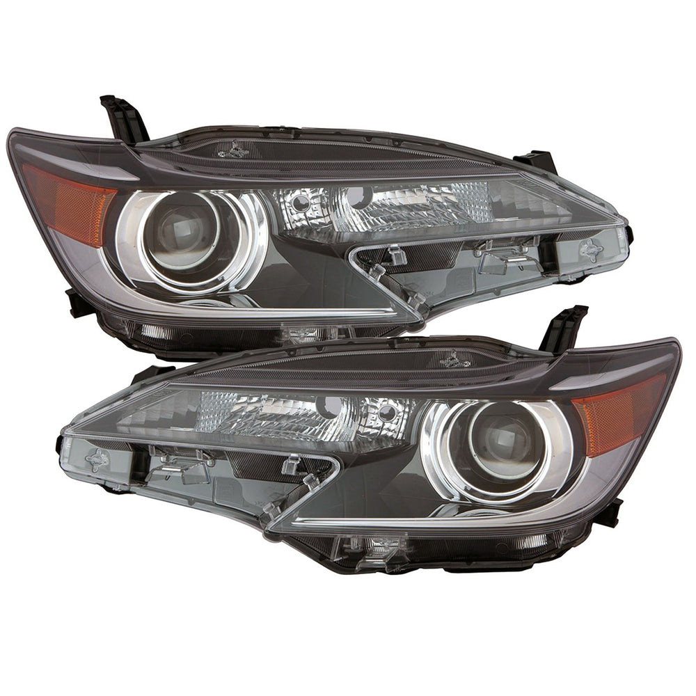 Headlights Set Right Passenger Left Driver Pair Assembly Fits 2014-2016 Scion TC