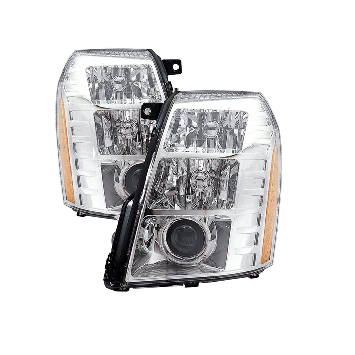 Headlights HID Set (09 2nd Design) Left Right Set Fits 2009-2014 Cadillac Escalade. Includes Bulbs and Ballast.