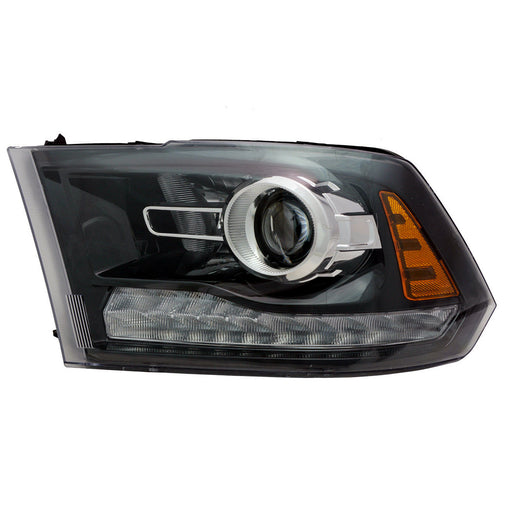 Headlight Projector Black High Quality CAPA Left Driver Fits 2013-2014 Ram 1500 Sport