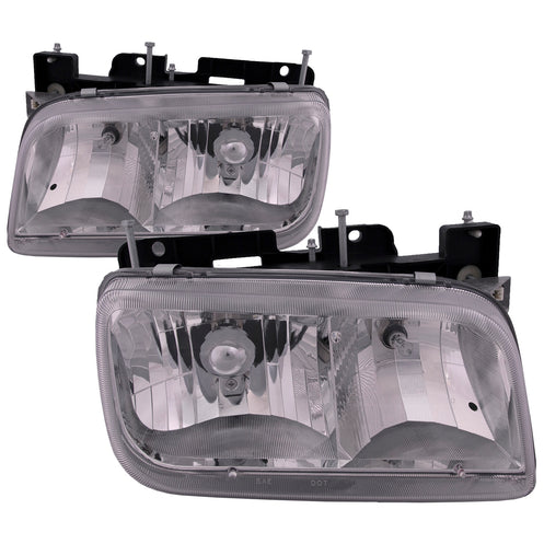 Headlights Halogen Set Left Driver Right Passenger Pair Fits 1999-2000 Cadillac Escalade/ 1992-2000 GMC Yukon Denali