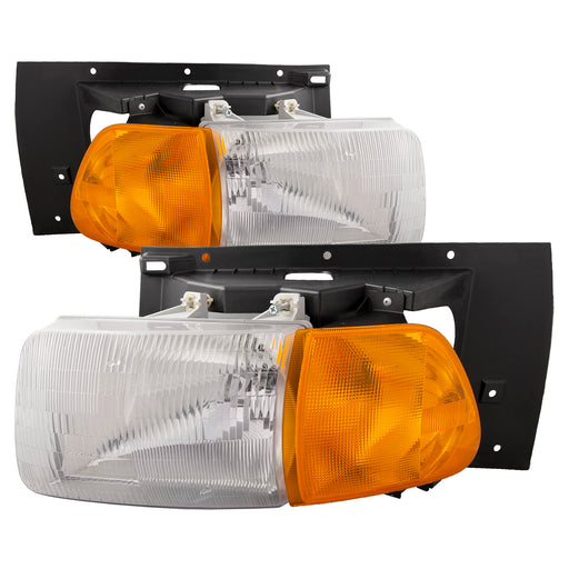 1998-2005 Sterling Truck AT9500, 1998-2008 Sterling Truck LT8500, 1998-2008 Sterling Truck LT9500 Left Driver Right Passenger Headlight Set