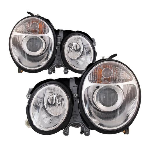 00-02 Mercedes E Class Sedan /00-03 Wagon Projector Headlights Headlamps Pair