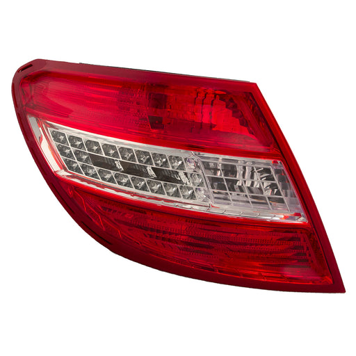 Rear Tail Light LED W/Curve Left Driver Assembly Fits 2008-2011 Mercedes Benz C-Class
