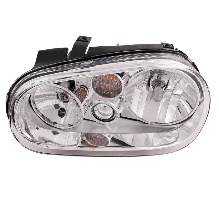 Headlight Halogen w/o Built-in Fog Light Left Driver Side Assembly Fits 1999-2002 Volkswagen Cabrio/Golf Gti