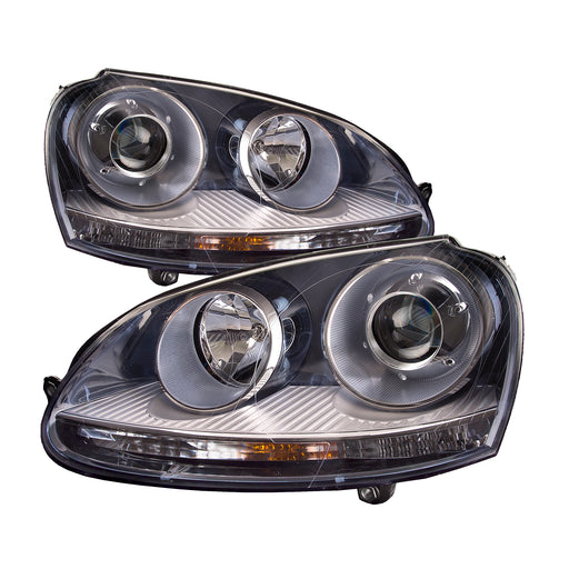 Headlights HID Type Set Left Driver Right Passenger Pair Assembly Fits 2006-2009 Volkswagen Golf, 2005-2010 Volkswagen Jetta, 2006-2009 Volkswagen Rabbit