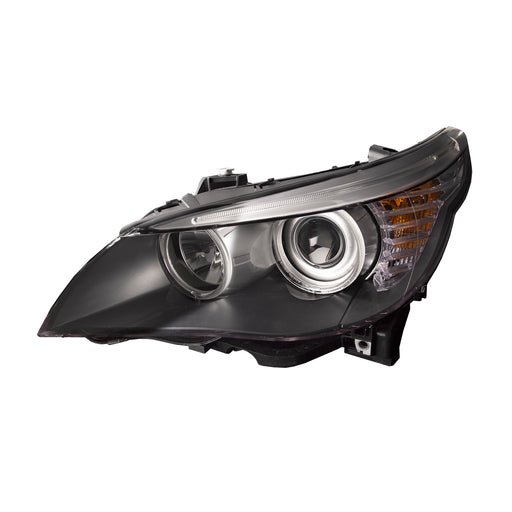 Headlight Halogen Black Housing Left Driver Assembly Fits 2008-2010 BMW 5 Series E60 528i 535i 550i