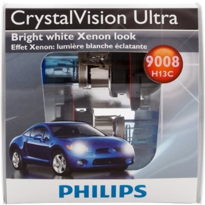 Phillips Crystal Vision Ultra H13 Xenon Headlight Bulb Set