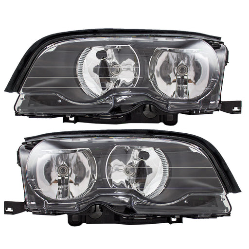 2002-2006 BMW 3-Series (Convertible/Coupe/E46) Halogen Headlights Set (Non-HID)