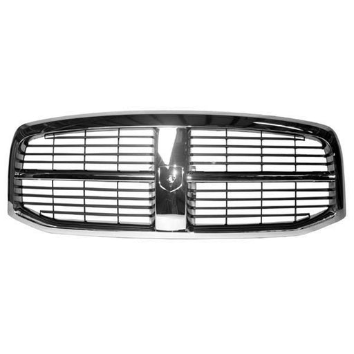 Front Grille Chrome/Black (Emblem Not Available Separate Sold by Dealer) For 2006-2009 Dodge Ram 1500 Ram 2500 Ram 3500