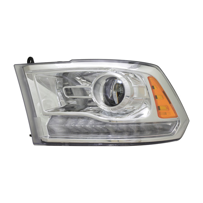 Headlight HID Chrome Quad Projector Left Driver Side Headlamp Fits Ram 1500 2500 3500