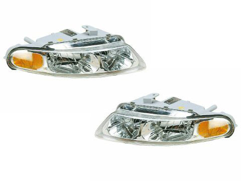 1997-2000 Chrysler Sebring 2-Door Sedan Headlights Set
