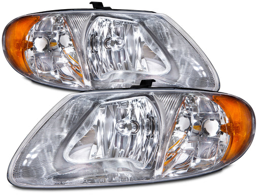 2001-2007 Chrysler Voyager/Town and Country/Dodge Caravan (w/113 inch Wheelbase) Headlights Set